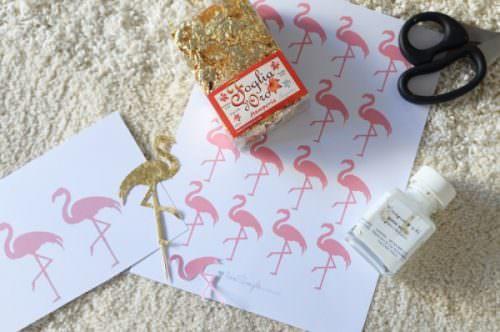 diy-gold-flamingo-topper-template-szablon